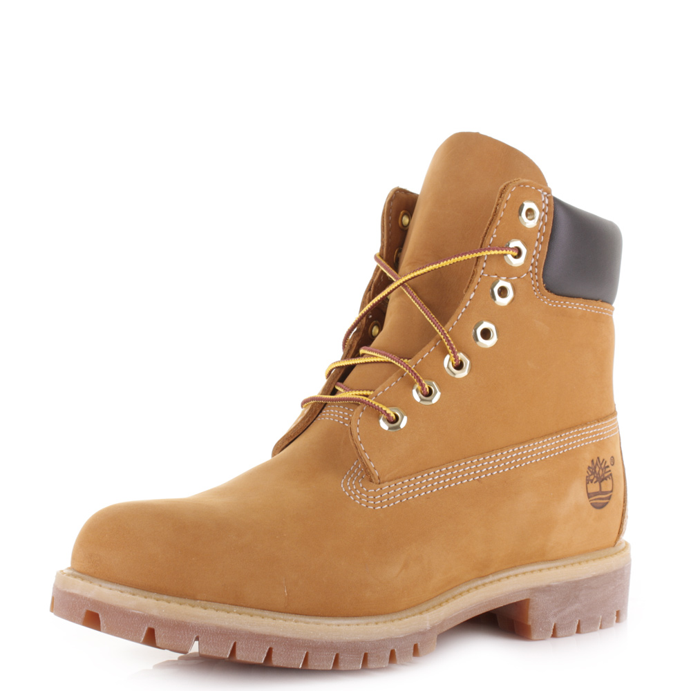 d1e2b4eaab2 Details about Mens Timberland Icon 6 Inch Premium Wheat Nubuck Leather  Ankle Boots Sz Size