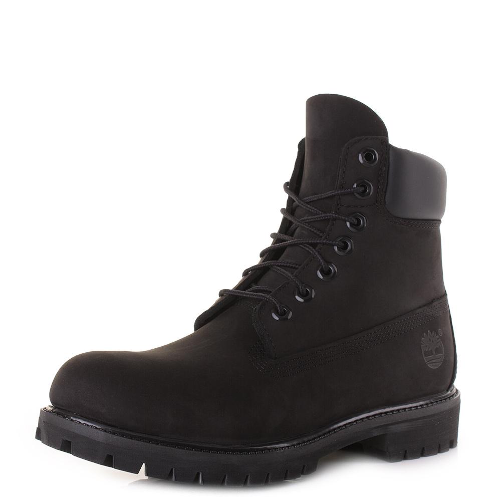 Mens Timberland Af 6 Inch Prem Bt Black Black Leather Waterproof Ankle Boot  Size