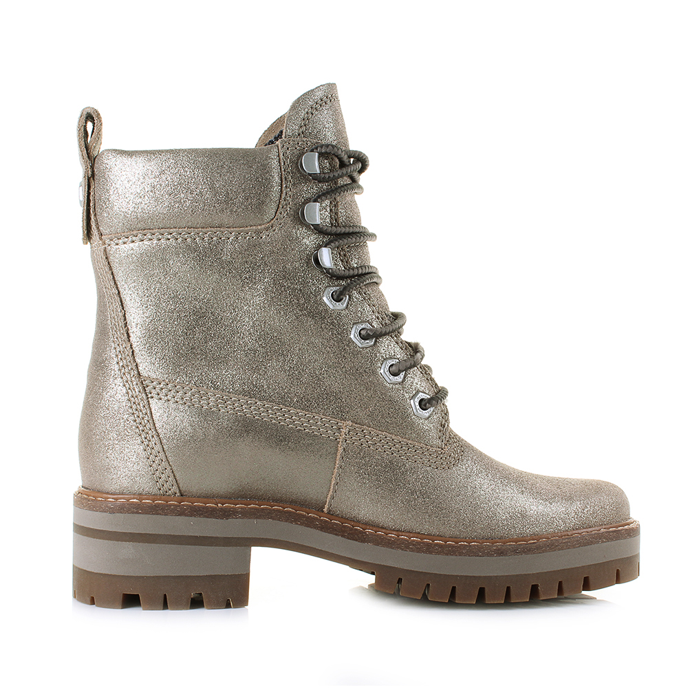 womens timberland courmayeur valley gold glitter lace up