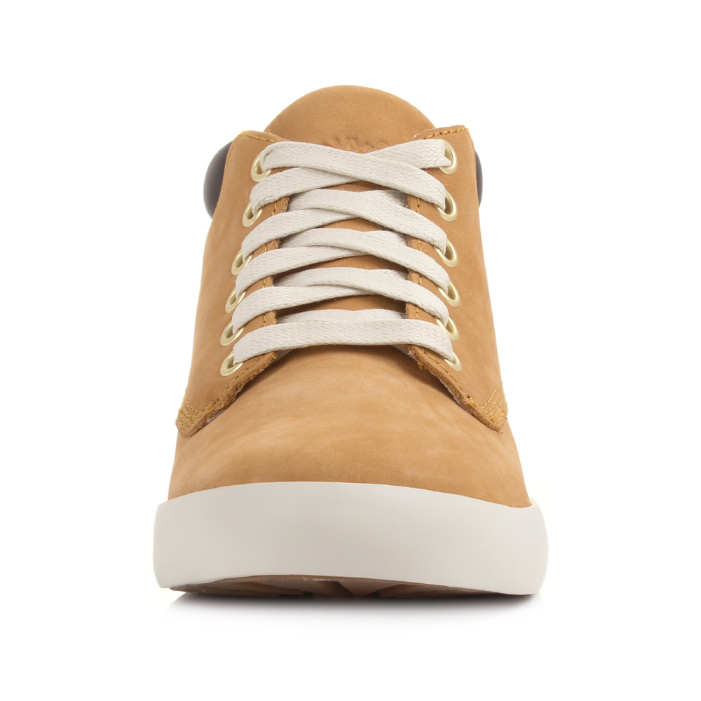 cb518082061c Womens Timberland Flannery Chukka Wheat Hi Top Casual Trainer BOOTS ...