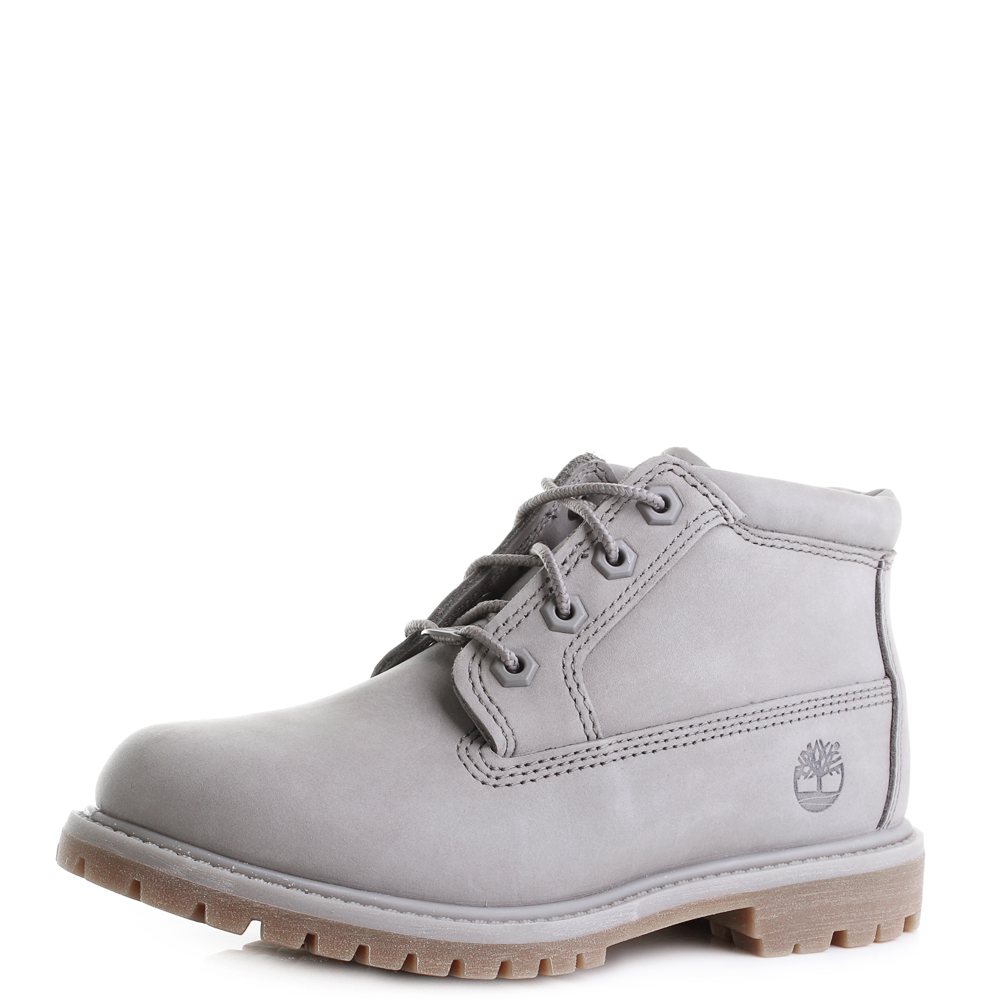 "Timberland Women s Icon 6"" Premium A1KLW Lace Up Boot Steeple Grey ... 6e9d70b70e3c"