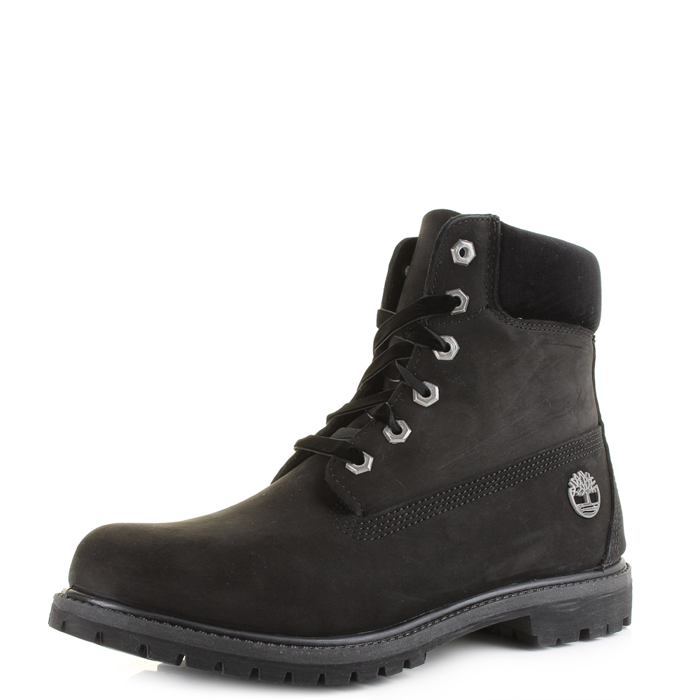 68b66efa6cc Details about Womens Timberland 6 Inch Premium Black Limited Ed Ankle Boots  Shu Size