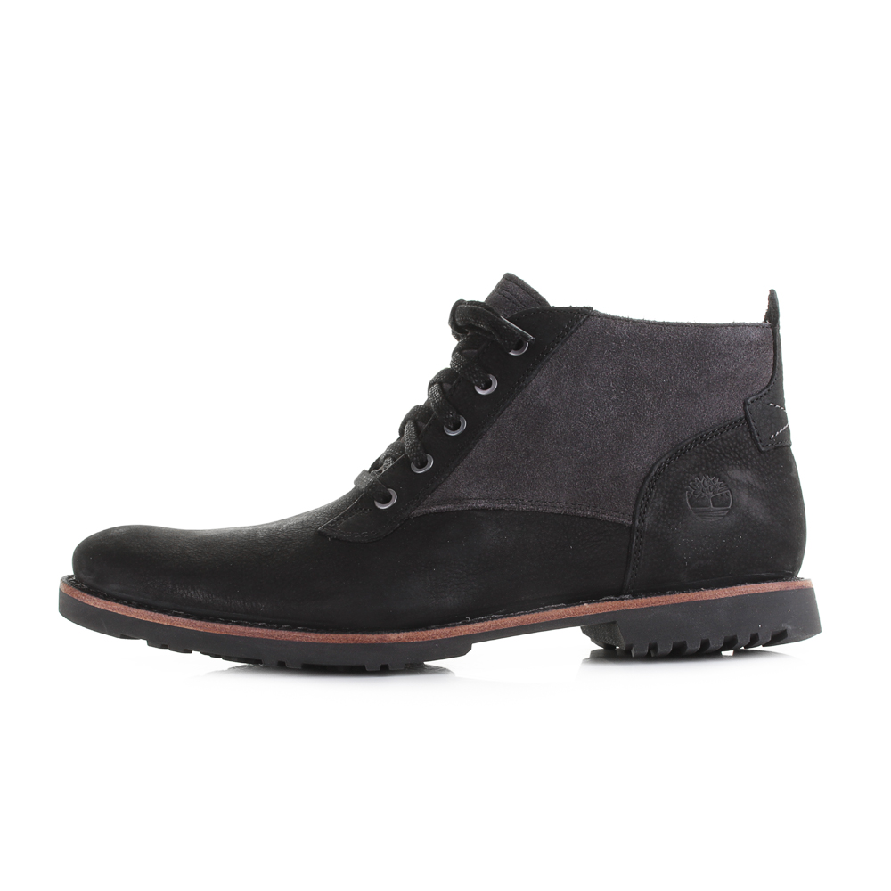 b3214cace68 Details about Mens Timberland Kendrick Chukka Black Nubuck Leather Lace Up  Boots UK Size