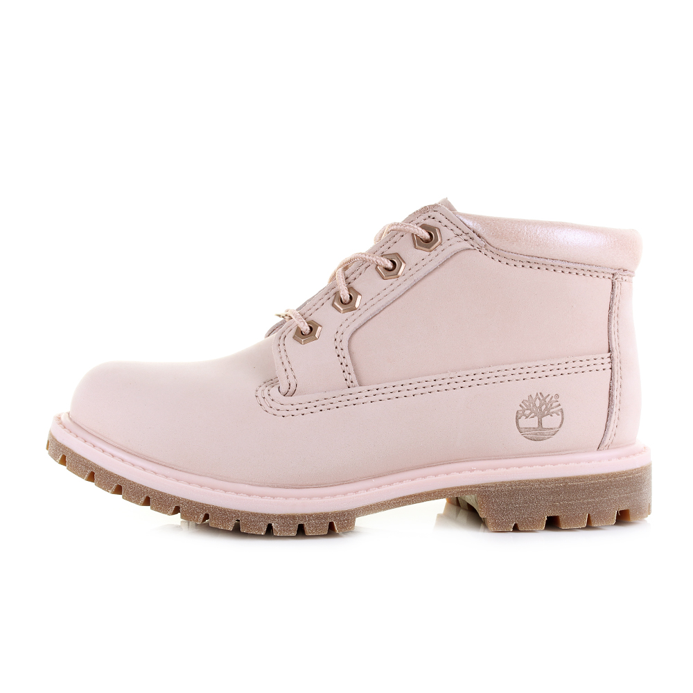 chaussures femme timberland nellie chukka double cameo rose rose cheville bottes taille ebay. Black Bedroom Furniture Sets. Home Design Ideas