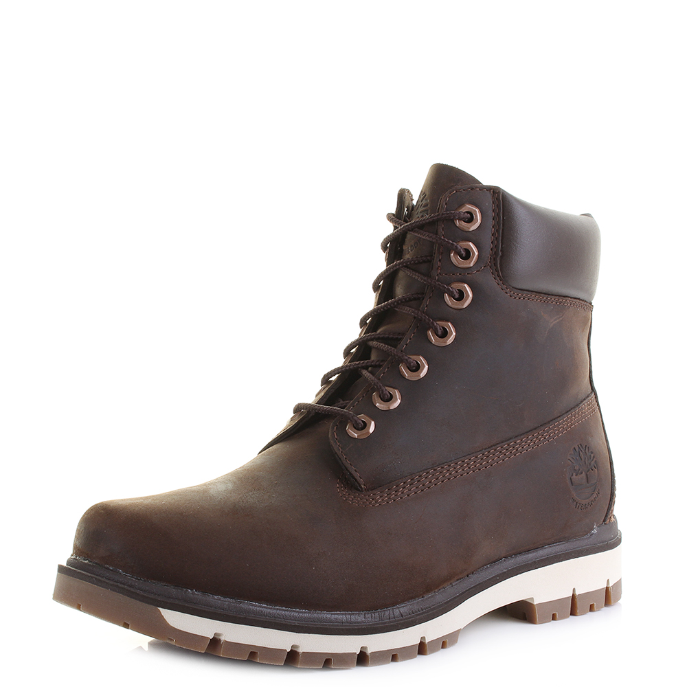 bd78385a5546 Mens Timberland Radford 6 Leather Waterproof Boots Potting Soil Brown Shu  Size