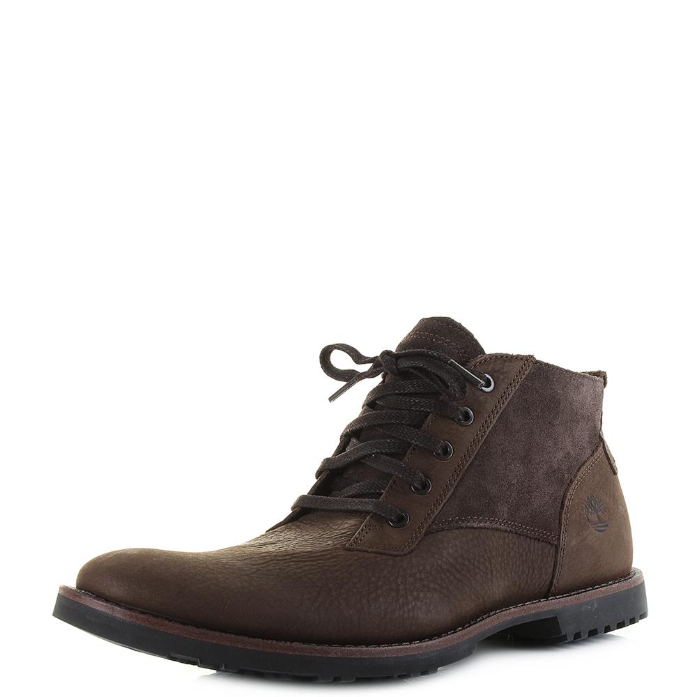 b2c493a6b7c Details about Mens Timberland Kendrick Chukka Potting Soil Premium Leather  Boots Shu Size