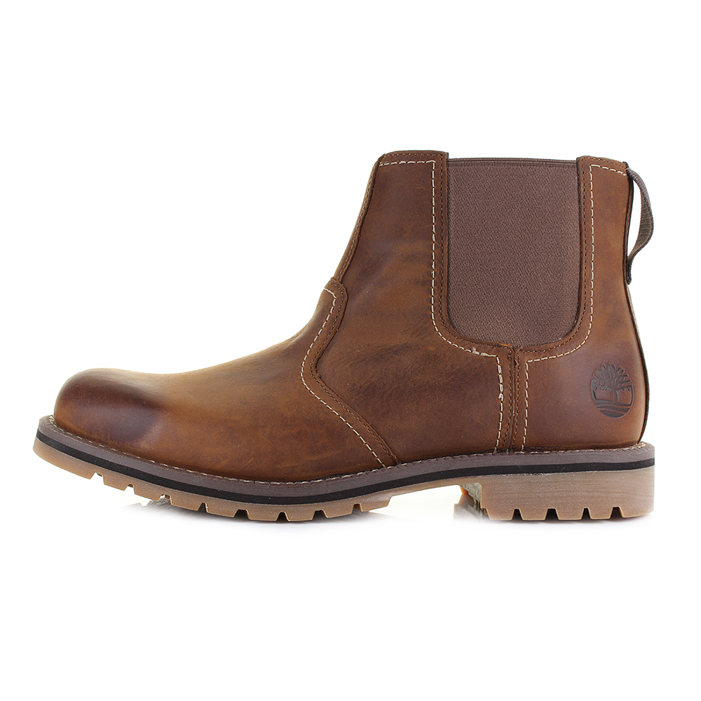 5422c3c28126 Mens Timberland Larchmont Chelsea Leather Brown Premium Ankle Boots Shu  Size  Picture 2 of 5 ...