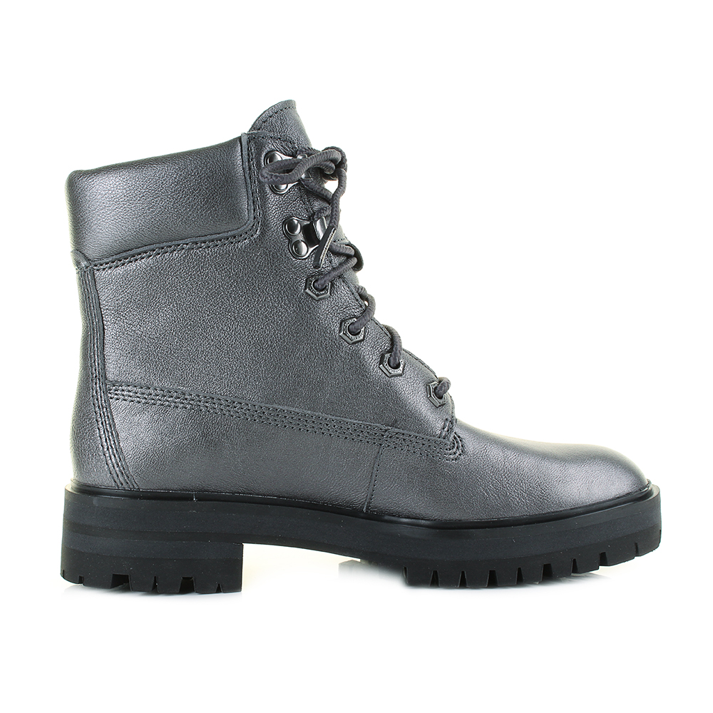 Womens Timberland London Square 6 Inch Dark Grey Lace Up Leather Boots Shu Size  Ebay-3894