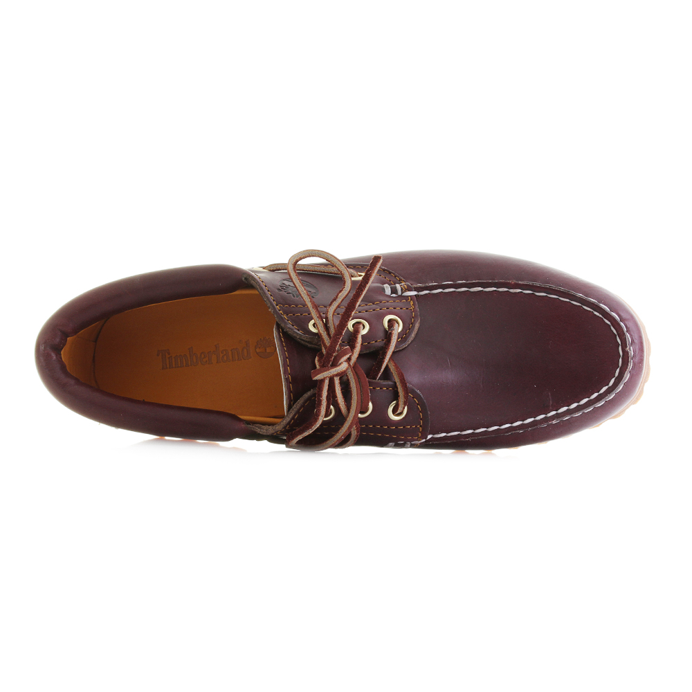 4f35578a72d0 Mens Timberland Trad HS 3 Eye Classic Boat Shoes Burgundy Red ...