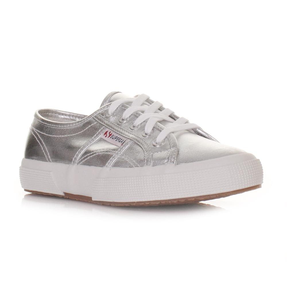 super popular 54351 6788d Details about Womens Superga 2750 Cotmetu Silver Metallic Flat Trainers  Shoes Lace Size 3-8