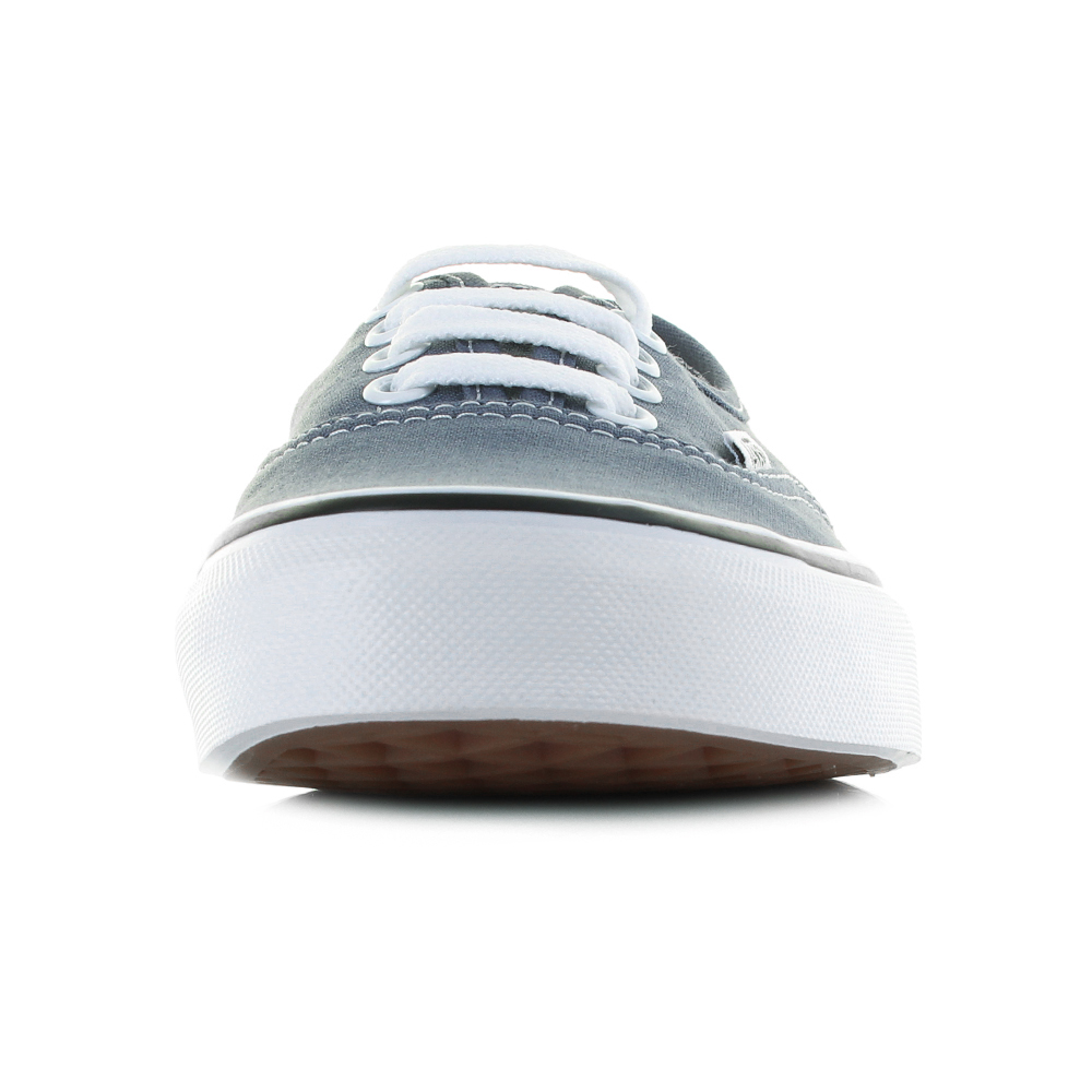 11aa3750e3 Womens Vans Authentic Grisaille True White Grey (Blue) Canvas ...