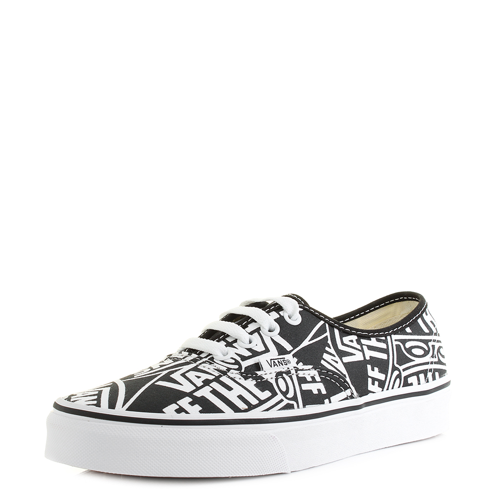 6d66762d5b4e7a Vans Authentic (Off The Wall) Black True White Classic Canvas ...