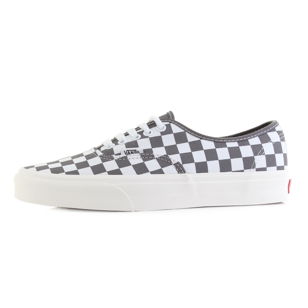0d3224ac7cd Mens Vans Authentic Pewter Checkerboard Grey White Casual Trainers Sz Size