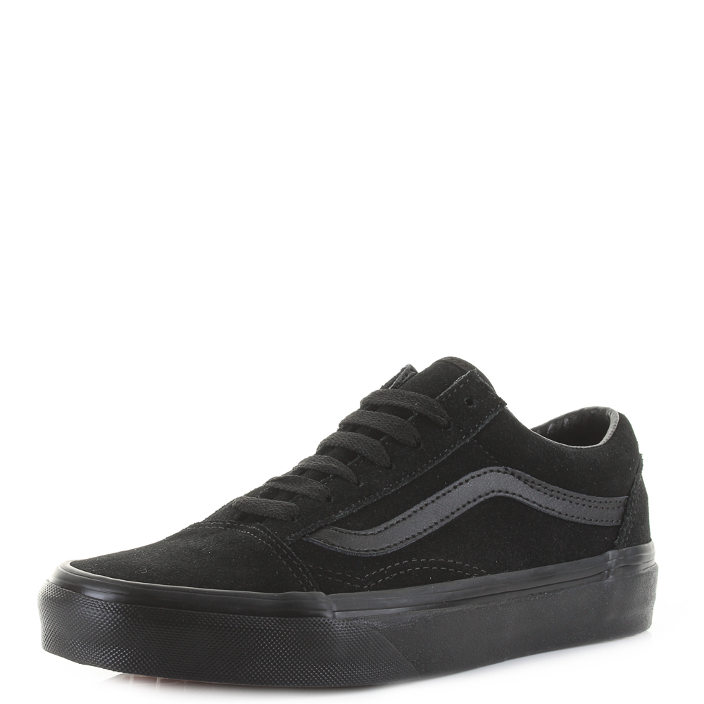 7144def34ee Vans Old Skool Suede Black Black Classic Fashion Skate Trainers Size ...