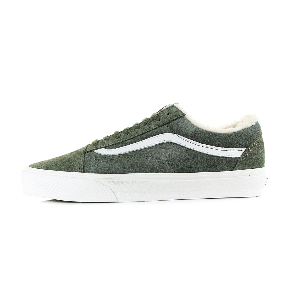 8ab517a475f2a7 Mens Vans Old Skool Suede Sherpa Grape Green Leather Trainers Sz Size