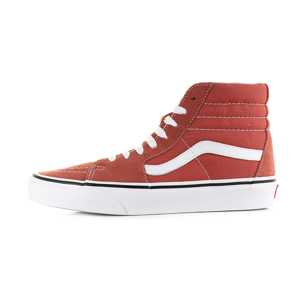 2426b6eb5b Vans Sk8 Hi Hot Sauce True White Classic Suede Canvas Hi Top ...