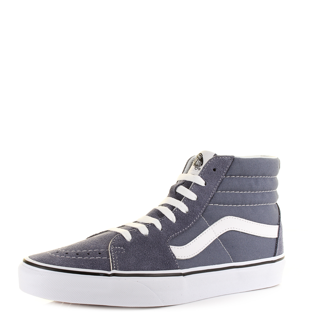ef548b2467 Vans SK8-Hi Grisaille True White Grey Suede Canvas Hi Top Trainer Shu Size