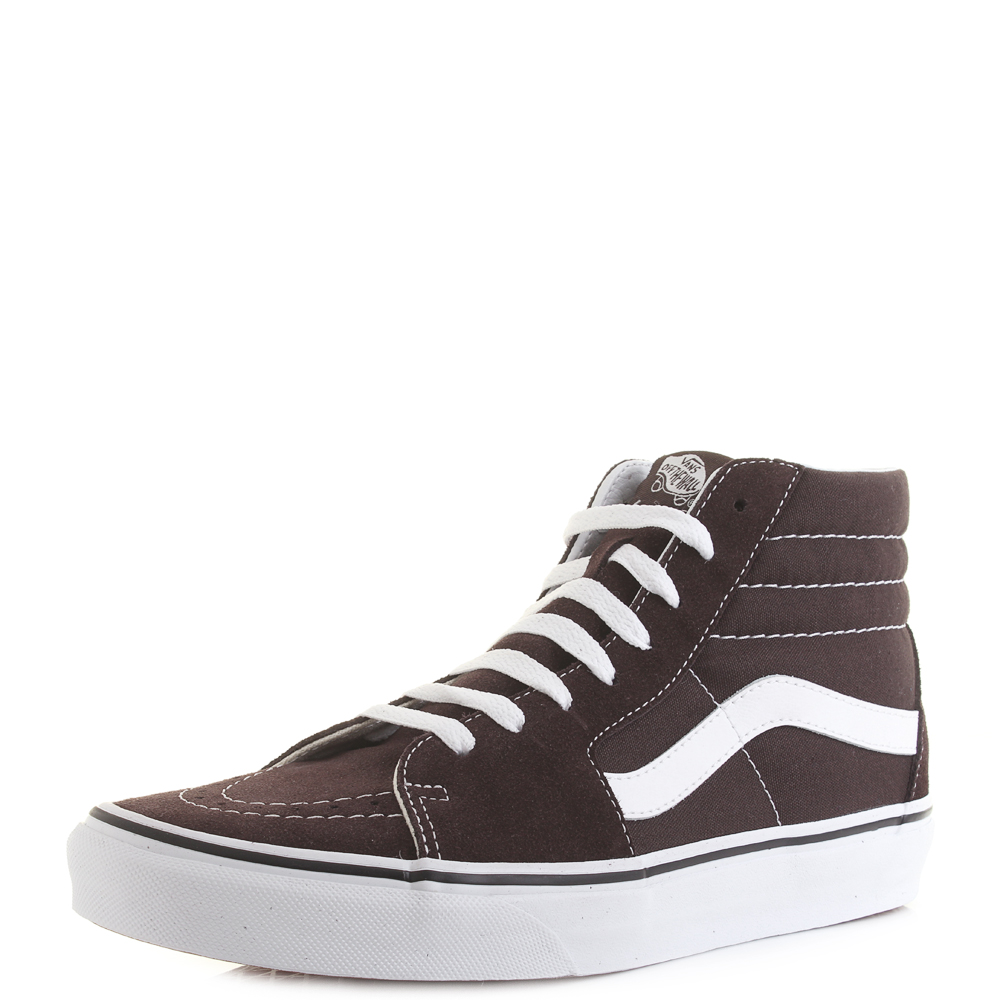 6fb1eb1721ff Mens Vans SK8 Hi Chocolate White Colour Theory Suede Trainers Shu Size
