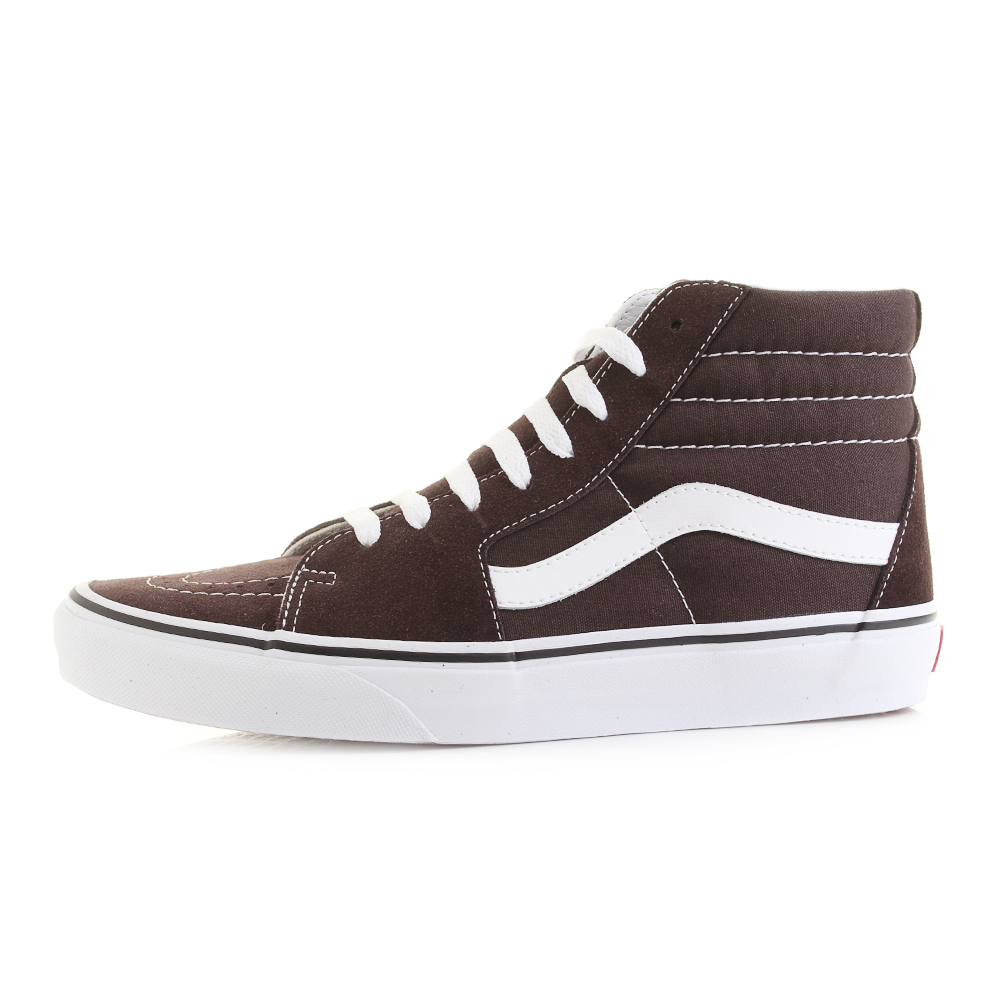768b85e60f946d Mens Vans SK8 Hi Chocolate White Colour Theory Suede Trainers Shu Size
