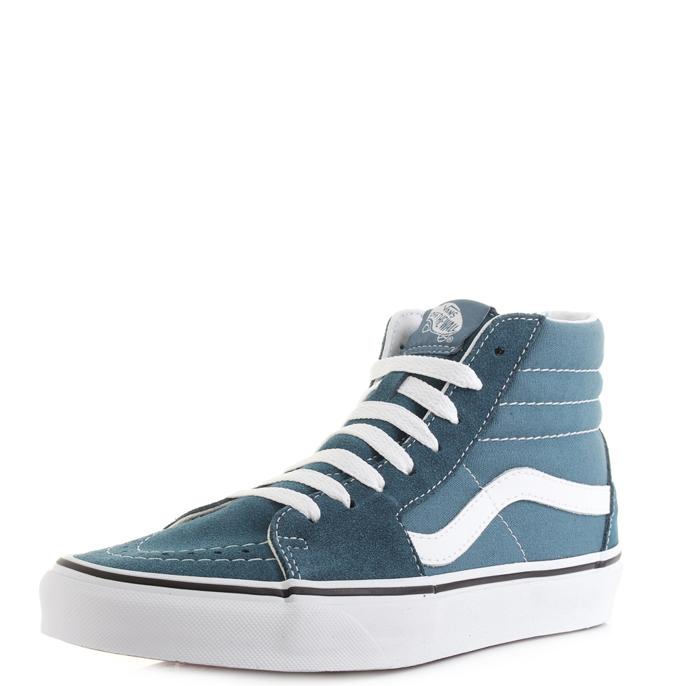 06ffc42123 Womens Vans Sk8 Hi Corsair Blue True White Classic Skate Trainers Shu Size
