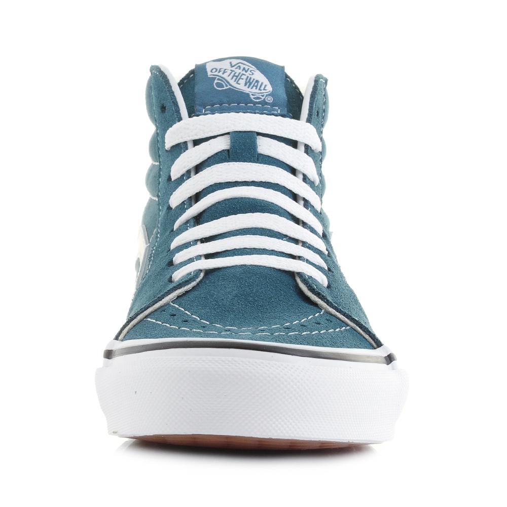 4f15d8b08c0d5d Womens Vans Sk8 Hi Corsair Blue True White Classic Skate Trainers ...