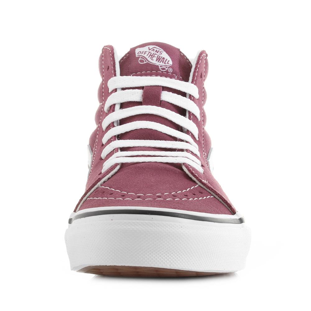 e27341745c7 Womens Vans Sk8- Hi Dry Rose True White Classic Fashion Trainers Shu Size