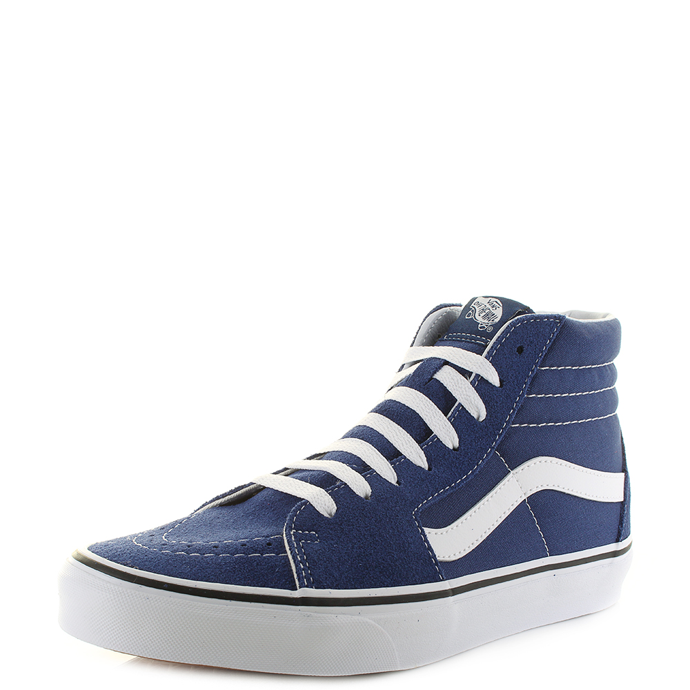 f017c2fb8fe Details about Mens Vans SK8 Hi Estate Blue True White High Top Trainers  Skate Shoes Shu Size