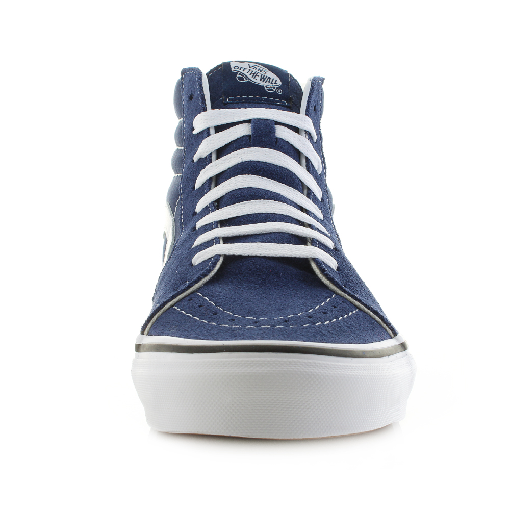d16881e737 Mens Vans SK8 Hi Estate Blue True White High Top Trainers Skate Shoes Shu  Size