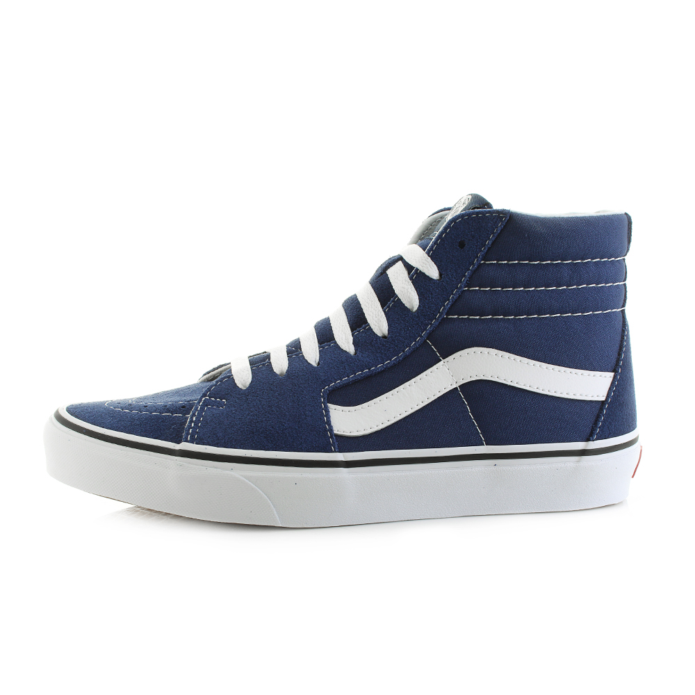 72a353a8e57ac Mens Vans SK8 Hi Estate Blue True White High Top Trainers Skate Shoes Shu  Size