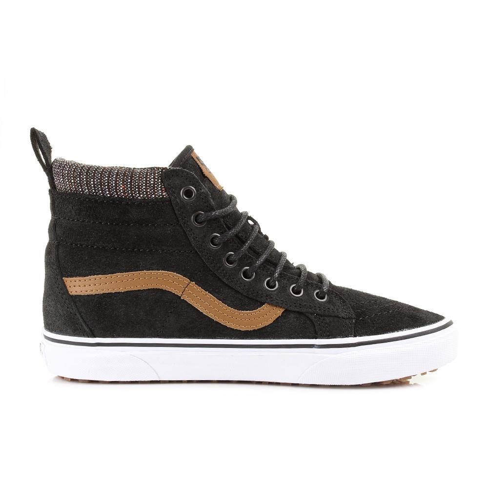 Buy black leather high top vans 291bddc59