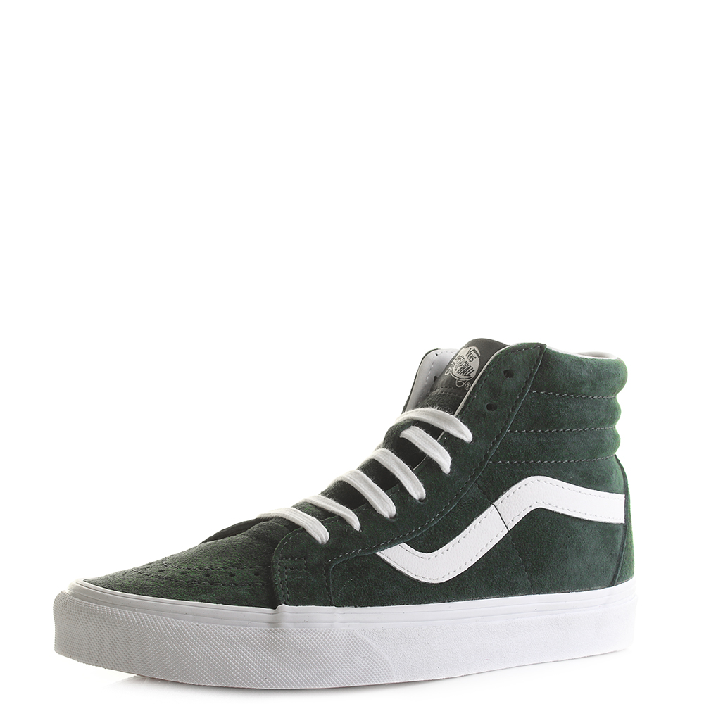 Womens Vans Sk8-Hi Reissue Pig Suede Darkest Spruce Green Trainers Shu Size e0f0a6d49