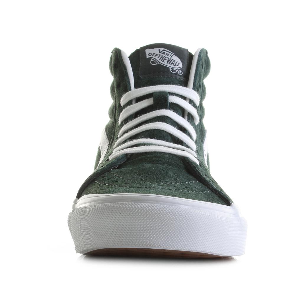 Détails sur Chaussures Femme Vans Sk8 Hi Réédition en daim cochon Darkest Spruce Vert Baskets Taille UK afficher le titre d'origine