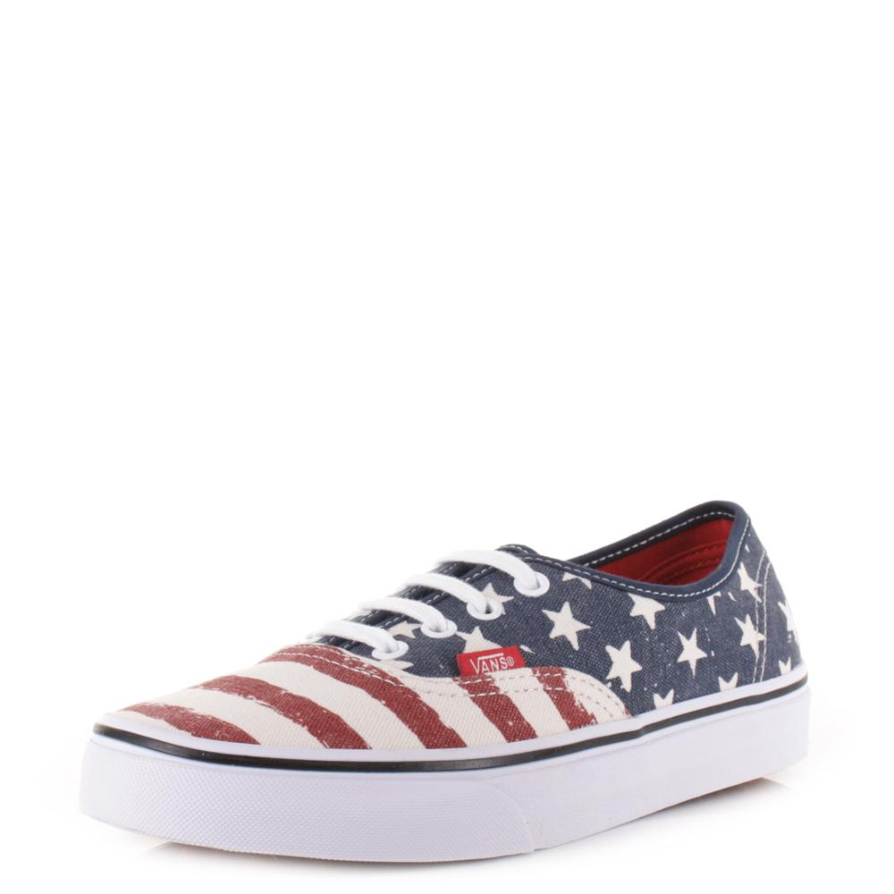 Details About Womens Vans Authentic Americana Dress Blues Skate Shoes Trainers Uk Size