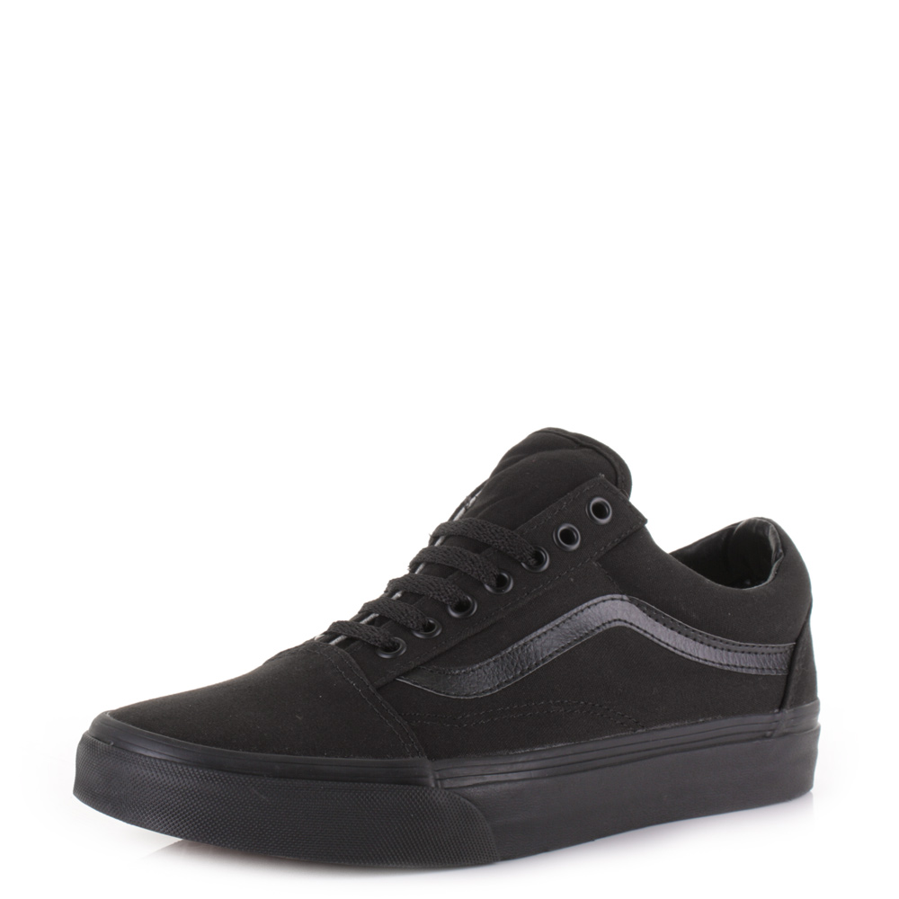 Details about Mens Vans Old Skool Black Black Classic Retro Skate Trainers  Shoes Sz Size 12b2559a5