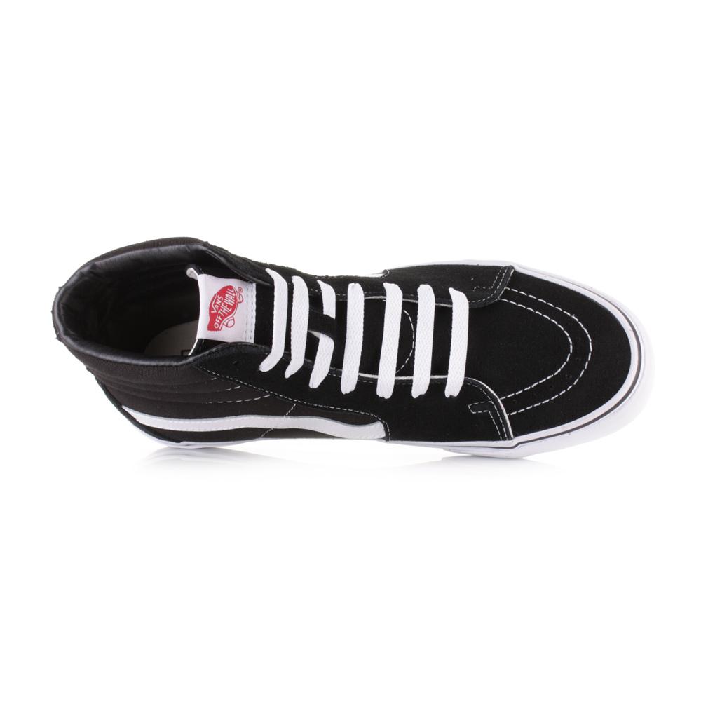 Mens Taille Canvas Hi hi Haut Shu Daim Chaussures Sk8 Blanc Noir Vans Baskets P80XwONnkZ