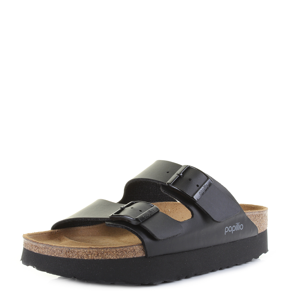228f14d1e7f2 Womens Birkenstock Arizona Platform Papillio Black Narrow Fit Sandals Shu  Size