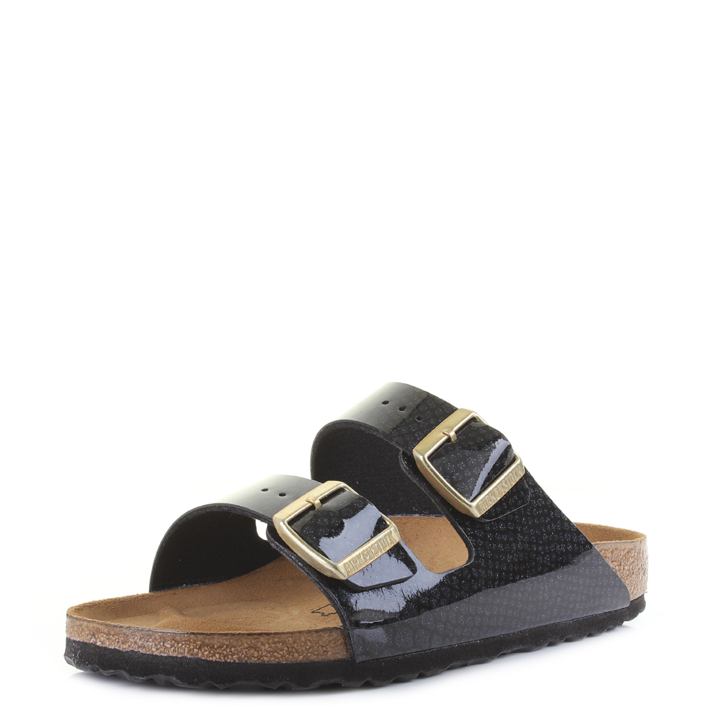 471ef4388ed Details about Womens Birkenstock Arizona BS Magic Snake Black Narrow Fit  Sandals Shu Size