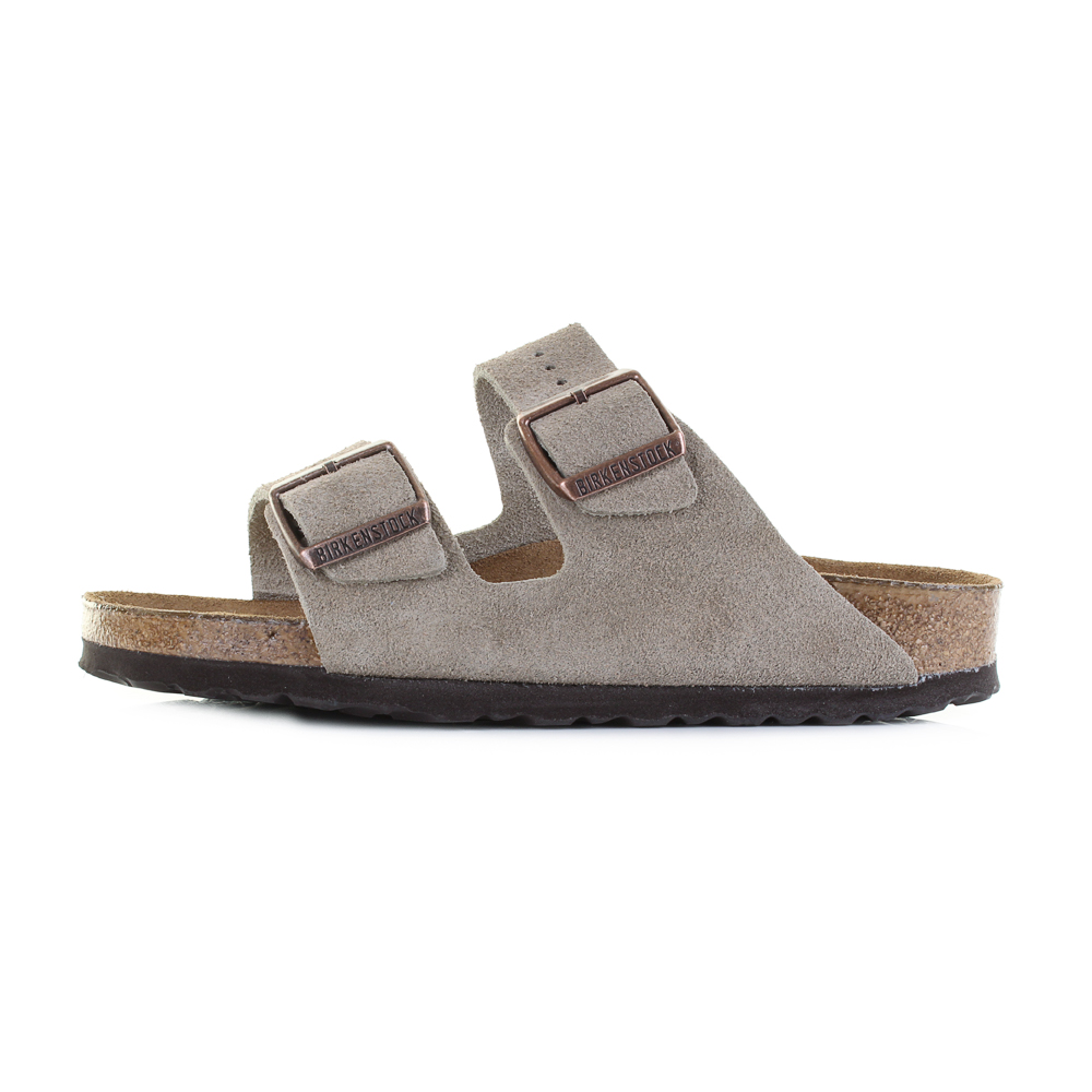 66ecb11d5d7b Birkenstock Arizona Soft Footbed Taupe Suede Leather Narrow Sandals Shu Size