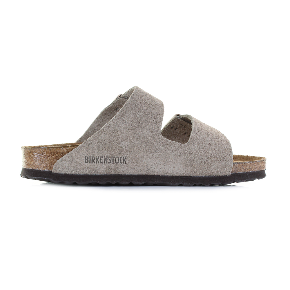 57cb3583aa7369 Birkenstock Arizona Soft Footbed Taupe Suede Leather Narrow Sandals Shu Size