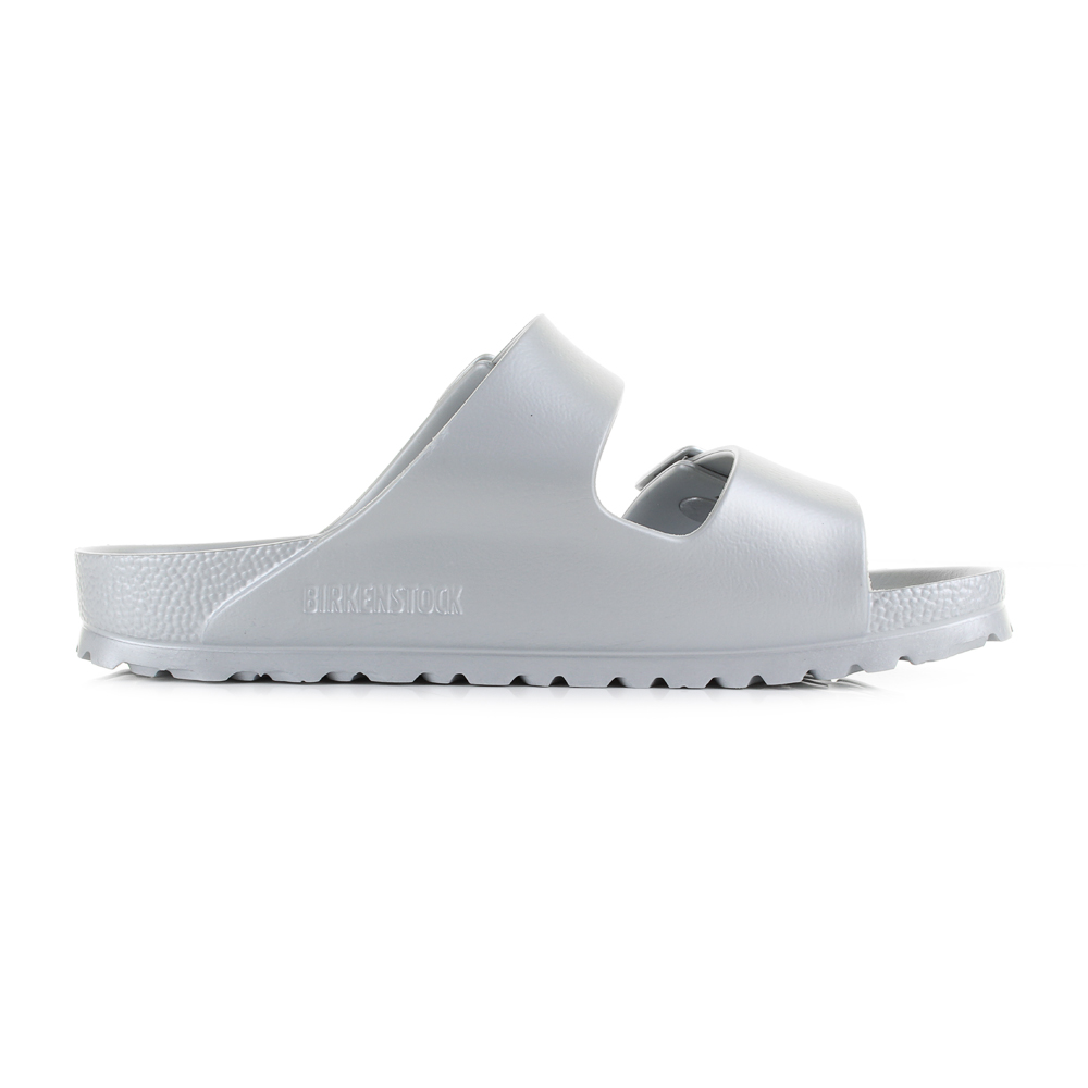 44788b6501b5 Womens Birkenstock Arizona EVA Silver Narrow Fitting Twin Strap Sandals Size