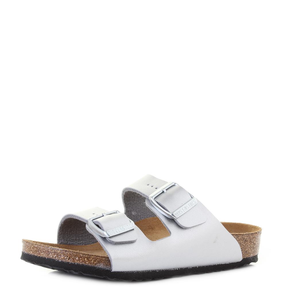 5ad529ac8744 Kids Birkenstock Arizona Kids Silver Comfort Sports Buckle Narrow Sandal Sz  Size