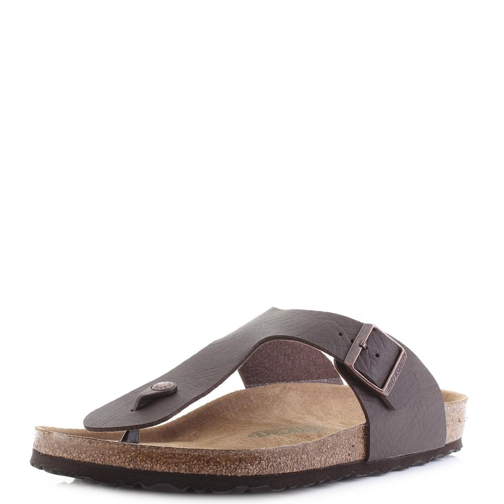 Details about Mens Birkenstock Ramses BS Saddle Espresso Regular Fit Sandals Size
