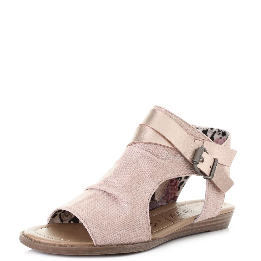 93a44ee2328da Details about Womens Blowfish Balla Rose Gold Rancher Peal Canvas Fashion  Sandals Shu Size