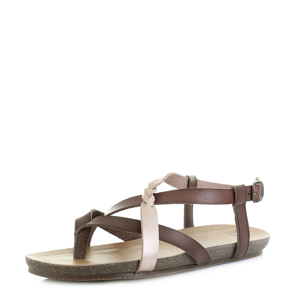 81904a586af3 Womens Blowfish Granola-B Brown Rose Gold Clay Fashion Vegan Sandals Size