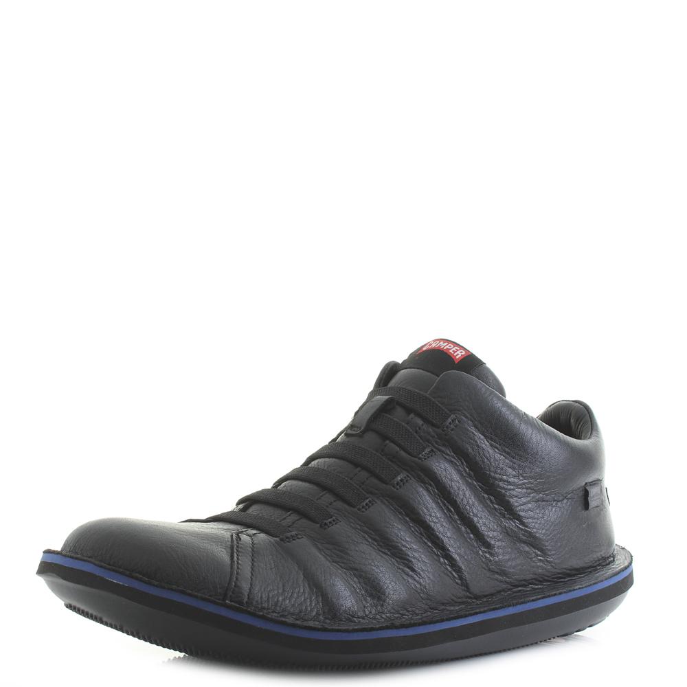 Detalles acerca de Para hombres Cuero Superior Camper Escarabajo Guardia Negra Goretex impermeable Zapatos Talla mostrar título original