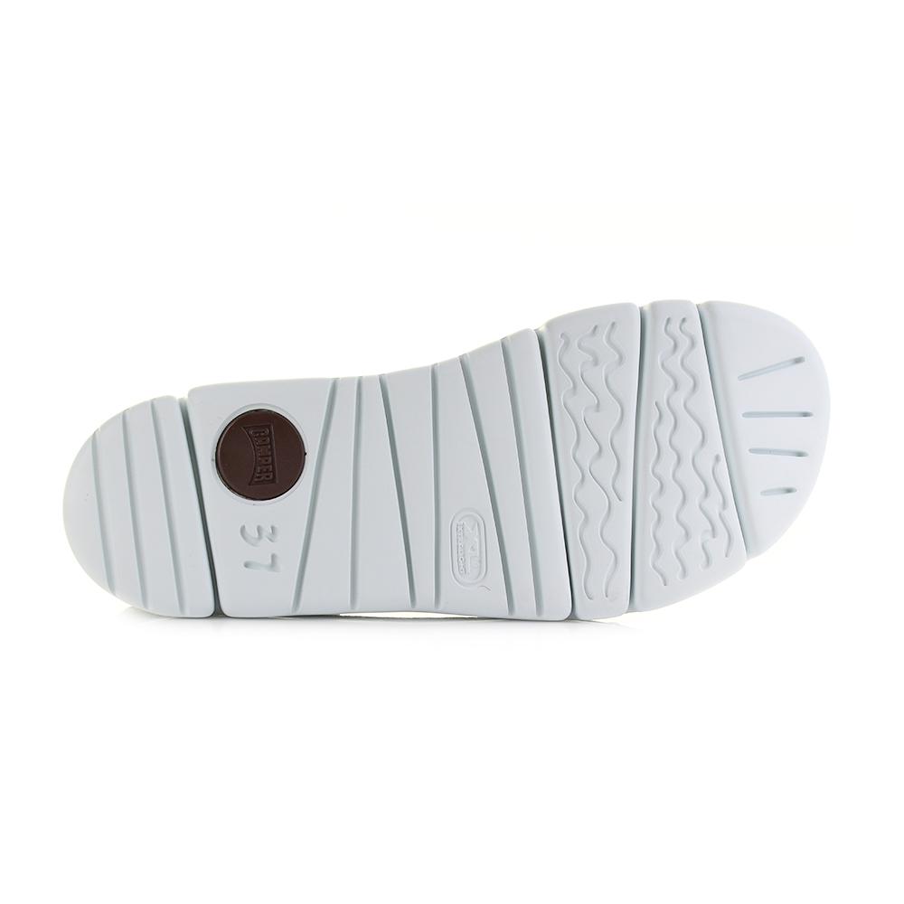 Womens Camper Oruga Sandal Hola Silver Lightweight Leather Sandals Size