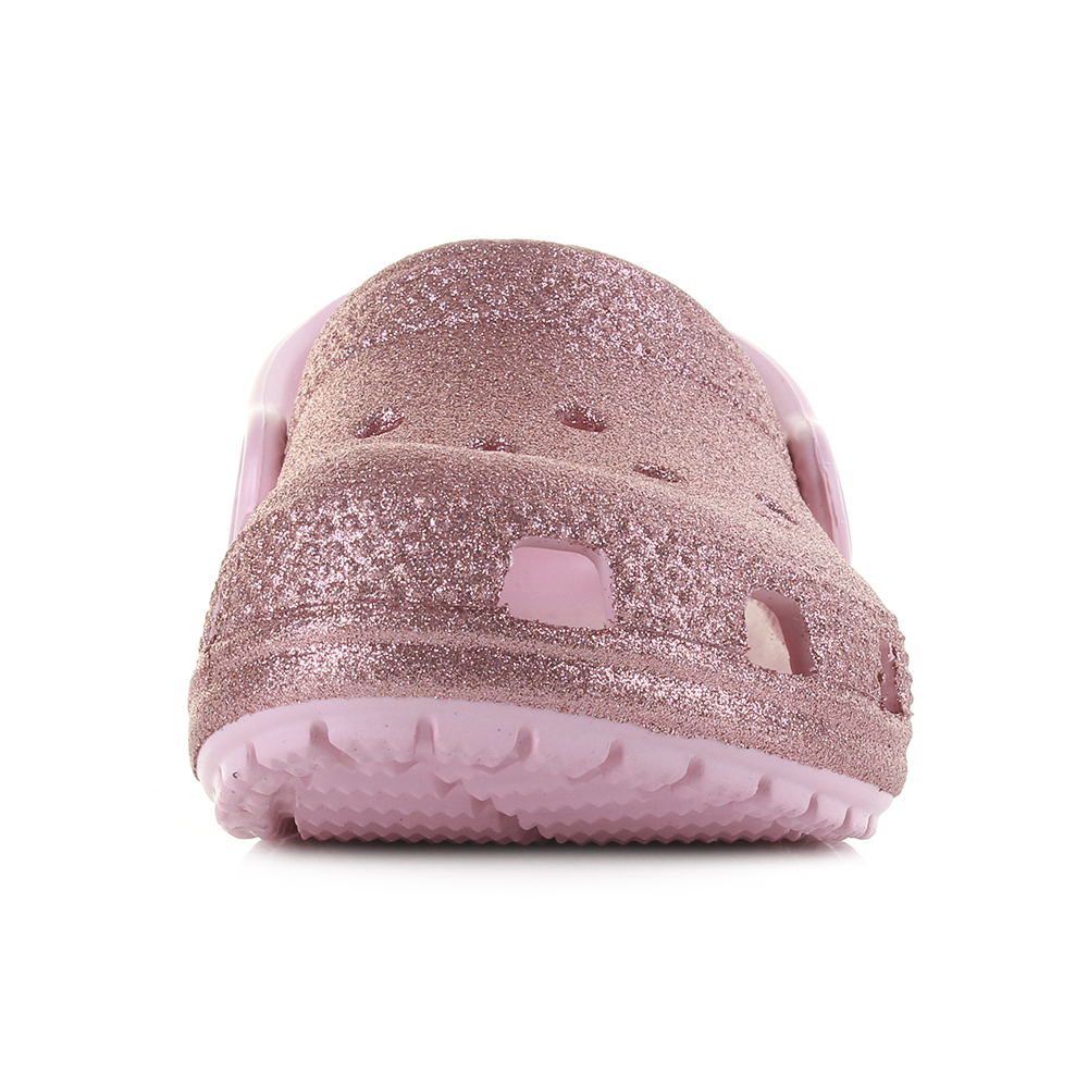 9941381a06d2 Kids Girls Crocs Classic Glitter Clog Blossom Gold Pink clog Sandals Size. Crocs  classic is a mule that has made a massive impact since its release