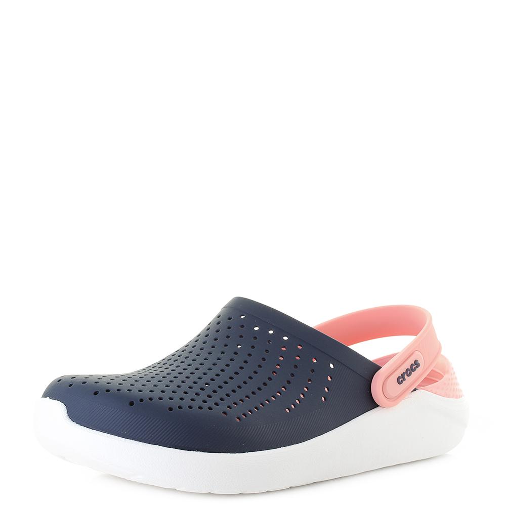 b5058a8c18c Womens Crocs Literide Clog Navy Melon comfort Clogs sandals Shu Size ...