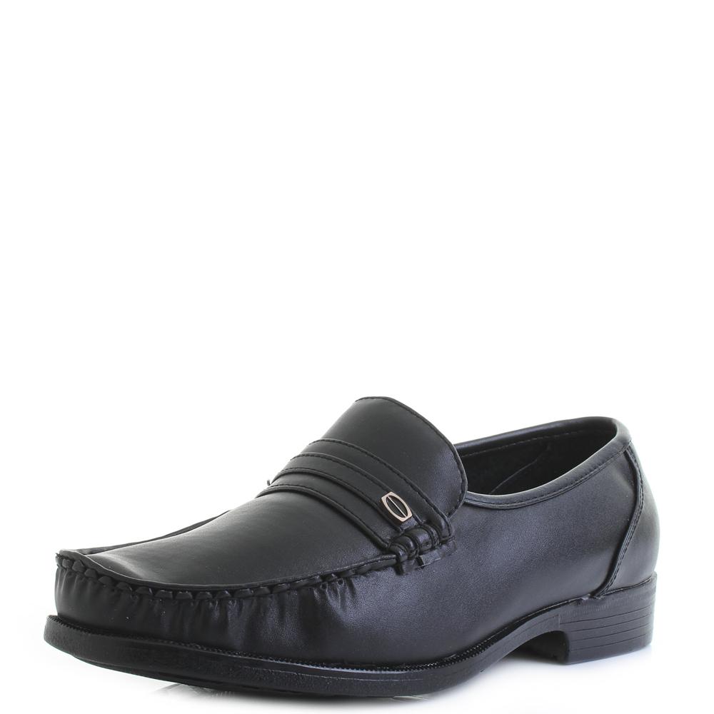 f77dc648c9a Details about Mens Dexter Comfort Faxton Black Leather Smart Formal Loafers  Shoes Sz Size