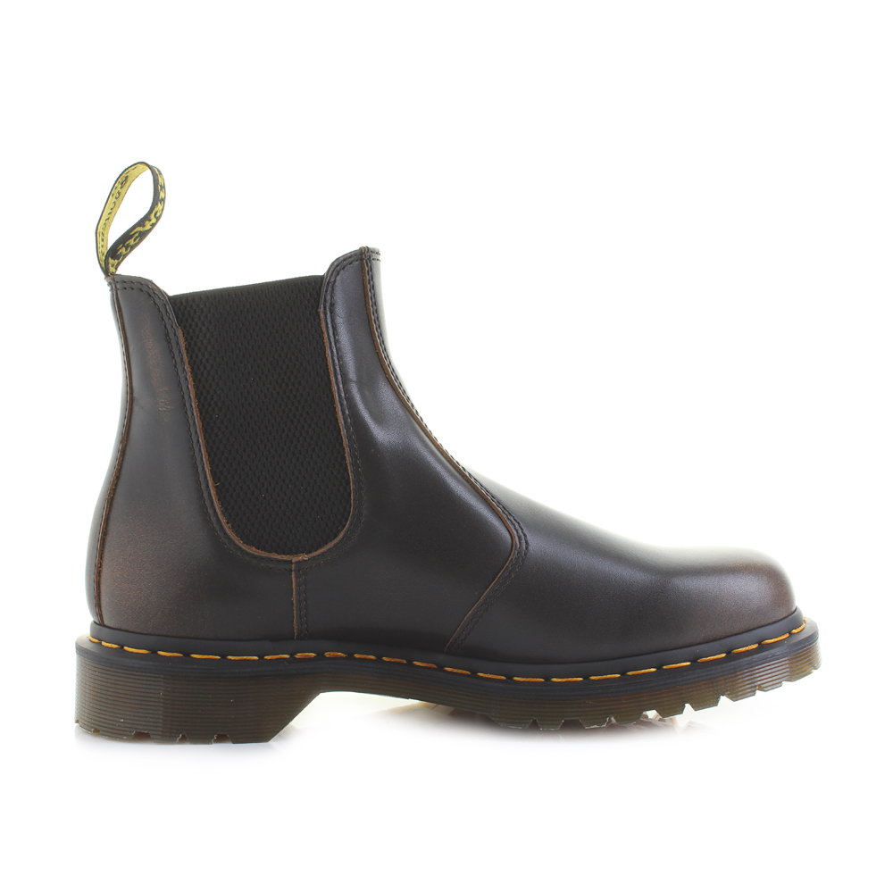 a8aabb005284 Mens Dr Martens 2976 Butterscotch Vintage Dark Brown Chelsea Boots UK Size